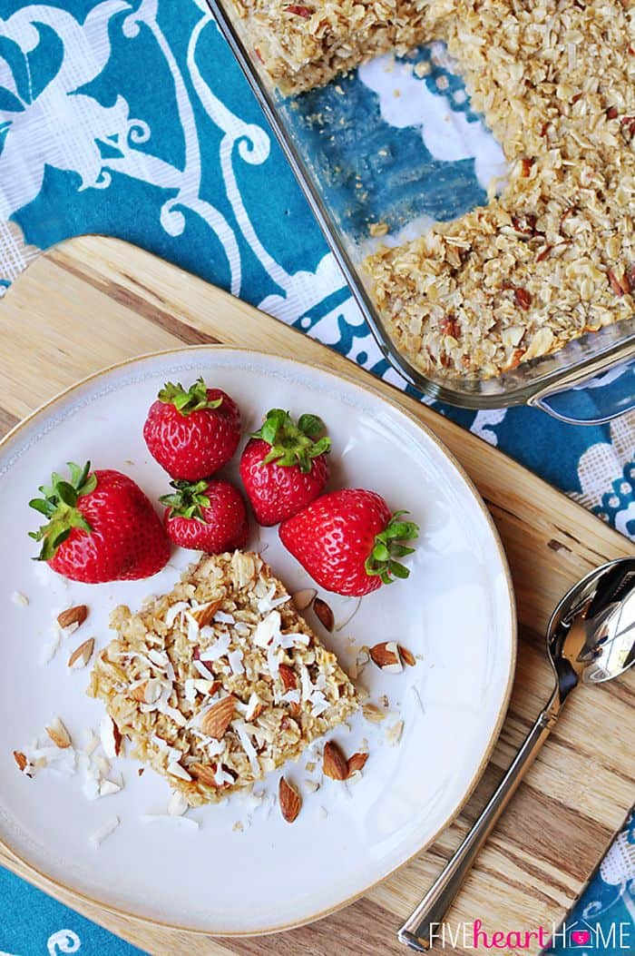 50 Easy to Make Breakfast Recipes: Coconut Almond Baked Oatmeal