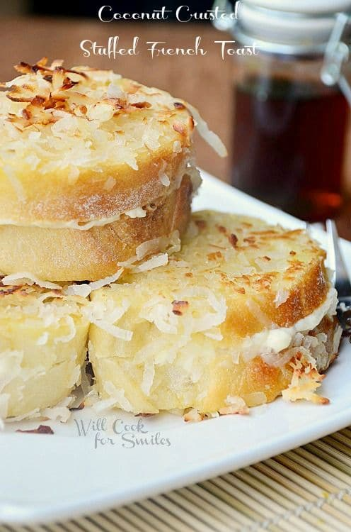 50 Easy to Make Breakfast Recipes: Coconut Crusted Stuffed French Toast