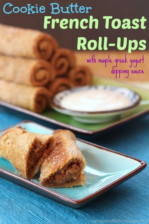 50 Easy to Make Breakfast Recipes: Cookie-Butter-French-Toast-Roll-Ups-4-title