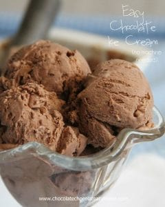Easy Chocolate Ice Cream, no machine needed!