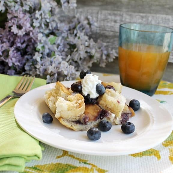 50 Easy to Make Breakfast Recipes: Easy Overnight Blueberry French Toast Casserole