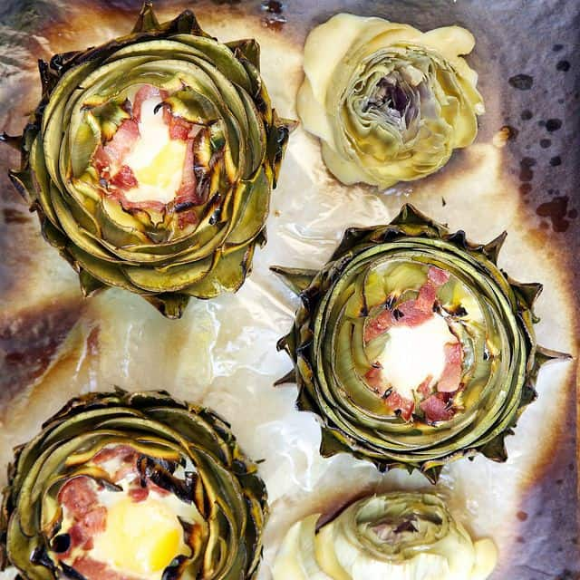 50 Easy to Make Breakfast Recipes: Eggs Benedict in Artichoke Cups