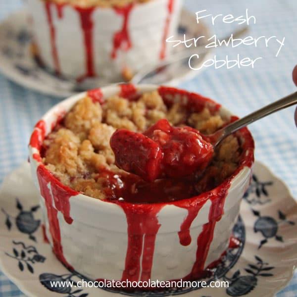 Fresh Strawberry Cobbler