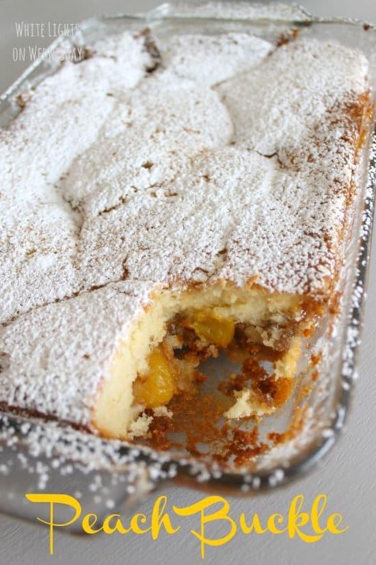 50 Easy to Make Breakfast Recipes: Peach Buckle