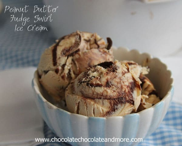 Peanut Butter Fudge Swirl Ice Cream-no machine needed!