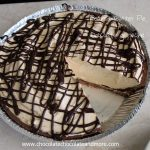 Peanut Butter Pie with Chocolate Ganache-creamy peanut butter filling with chocolate ganache on top and on the bottom!