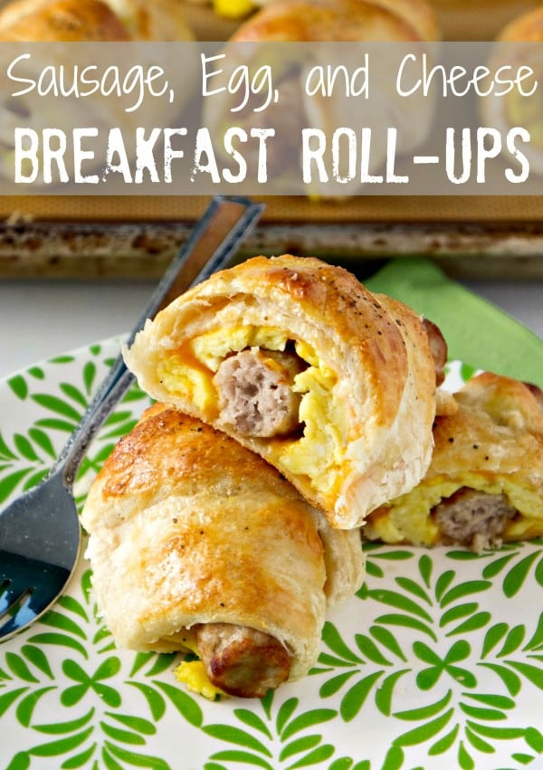 50 Easy to Make Breakfast Recipes: Sausage, Egg, and Cheese Breakfast Roll Ups