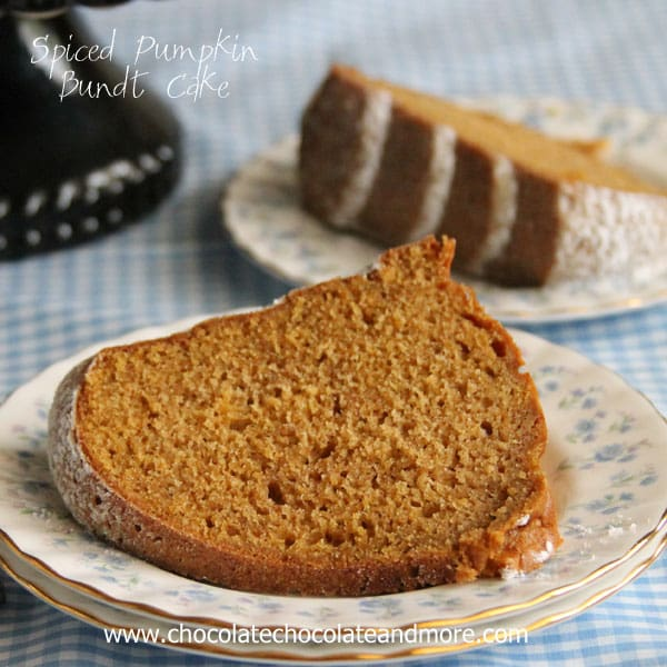Spiced Pumpkin Bundt Cake-the blend of spices and pumpkin come ...