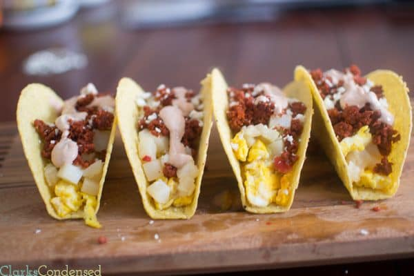 50 Easy to Make Breakfast Recipes: Spicy Breakfast Tacos