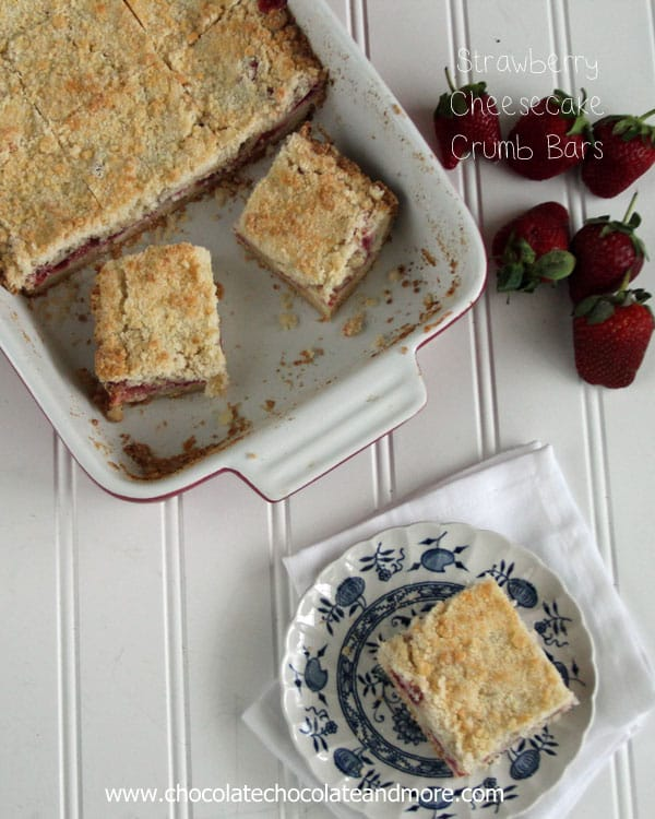 Strawberry Cheesecake Crumb Bars