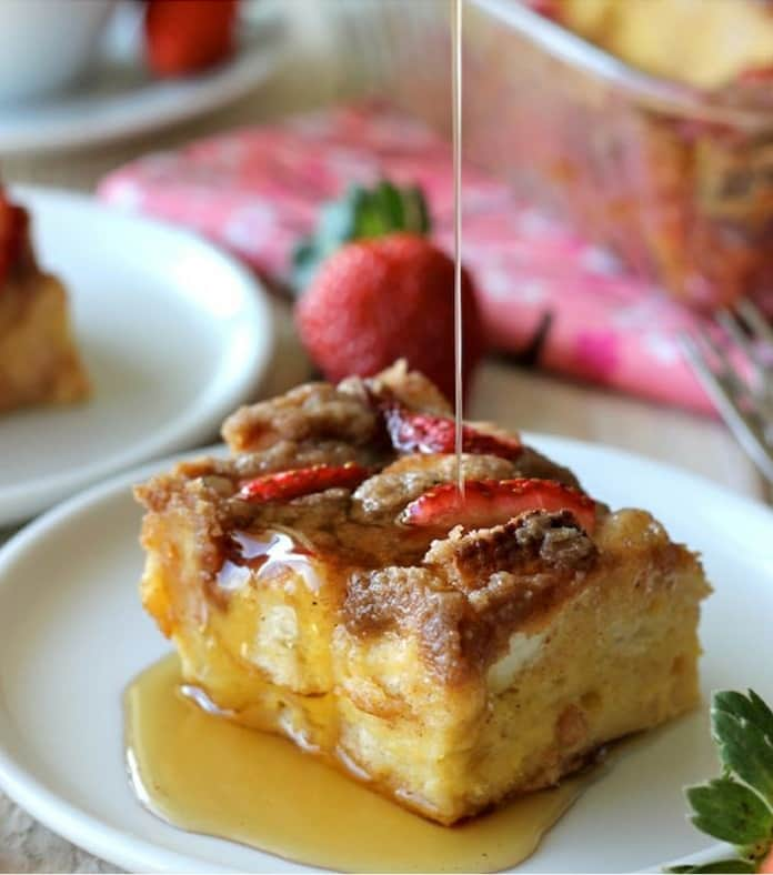 50 Easy to Make Breakfast Recipes: Strawberry Eggnog Baked French Toast