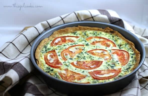 50 Easy to Make Breakfast Recipes: Tomato Bacon & Spinach Quiche