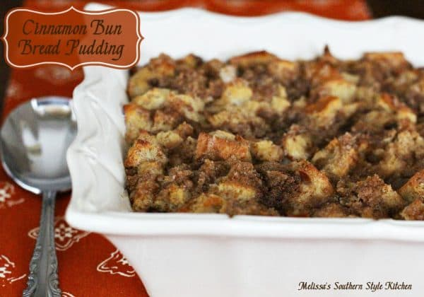 50 Easy to Make Breakfast Recipes-Cinnamon Bun Bread Pudding