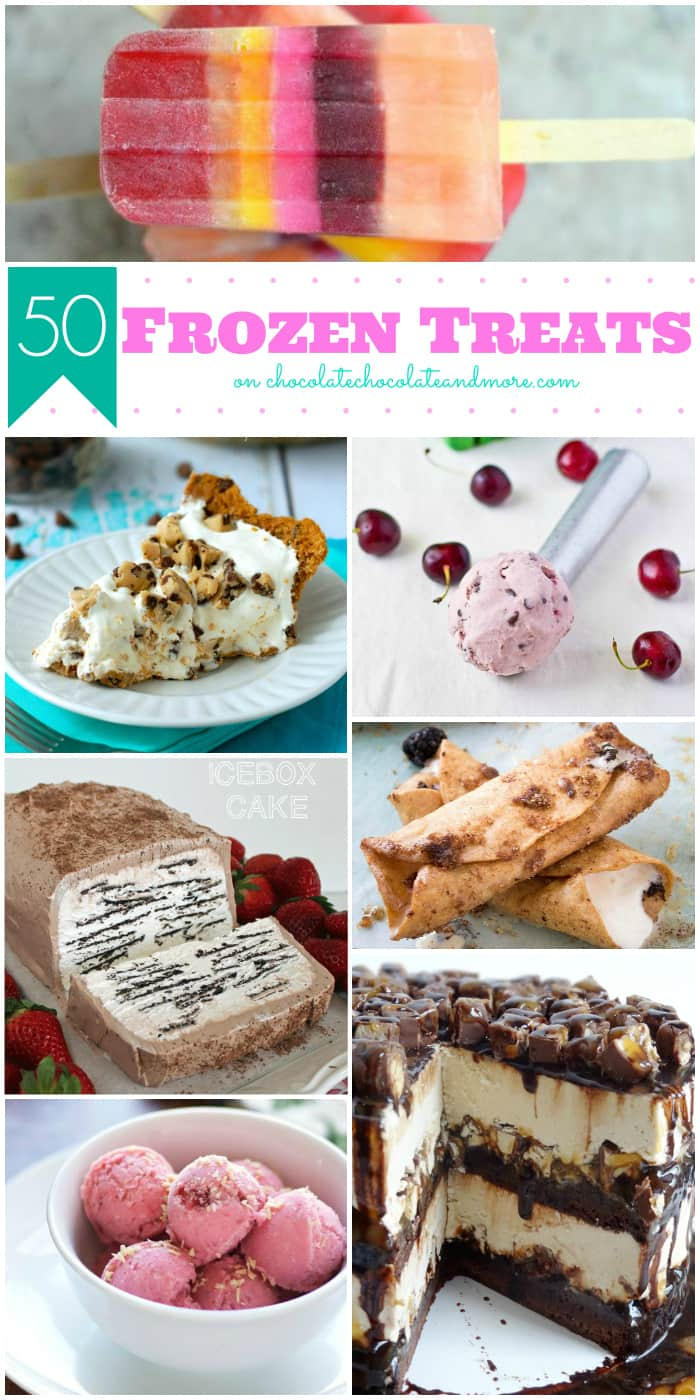 50 Frozen Treats | www.chocolatechocolateandmore.com