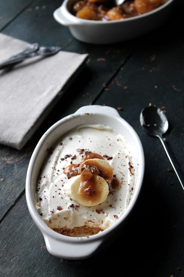 50 No Bake Treats: Banana Foster No-Bake Cheesecake