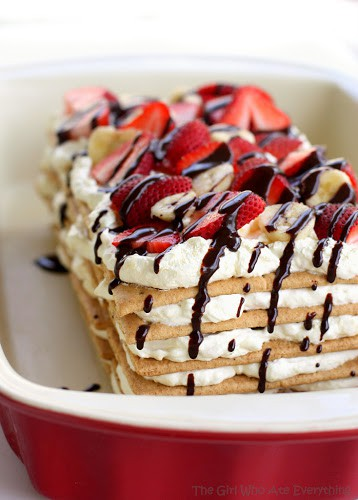 50 No Bake Treats: Banana Split Icebox Cake