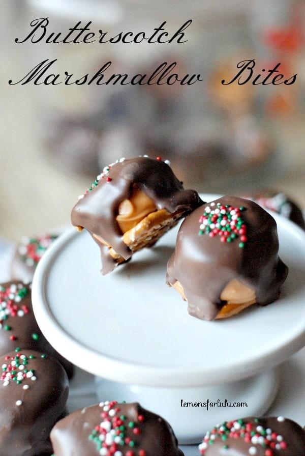 50 No Bake Treats: Butterscotch Marshmallow Bites
