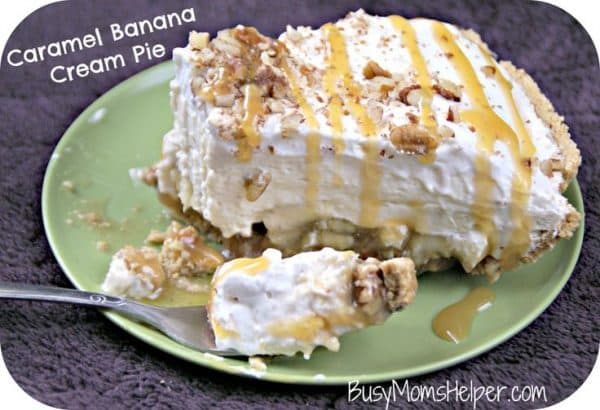 50 No Bake Treats: Caramel Banana Cream Pie