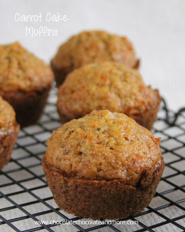 Carrot Cake Muffins-the great flavor of Carrot Cake in a muffin!