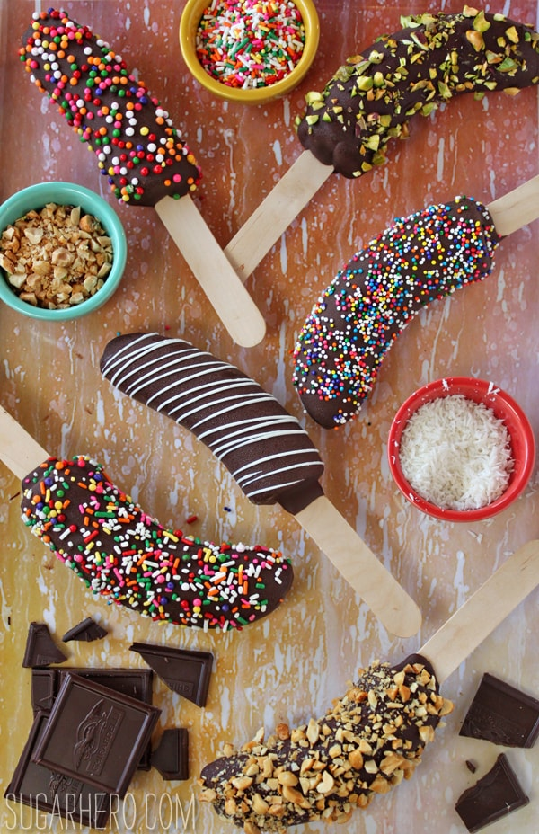 50 No Bake Treats: Chocolate-Dipped Frozen Bananas