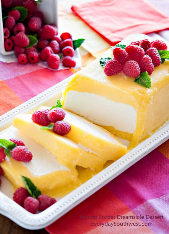 50 No Bake Treats: Mango Sorbet Dreamsicle Dessert