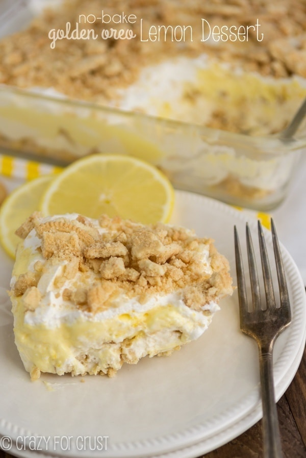 50 No Bake Treats: No-Bake Golden Oreo Lemon Dessert