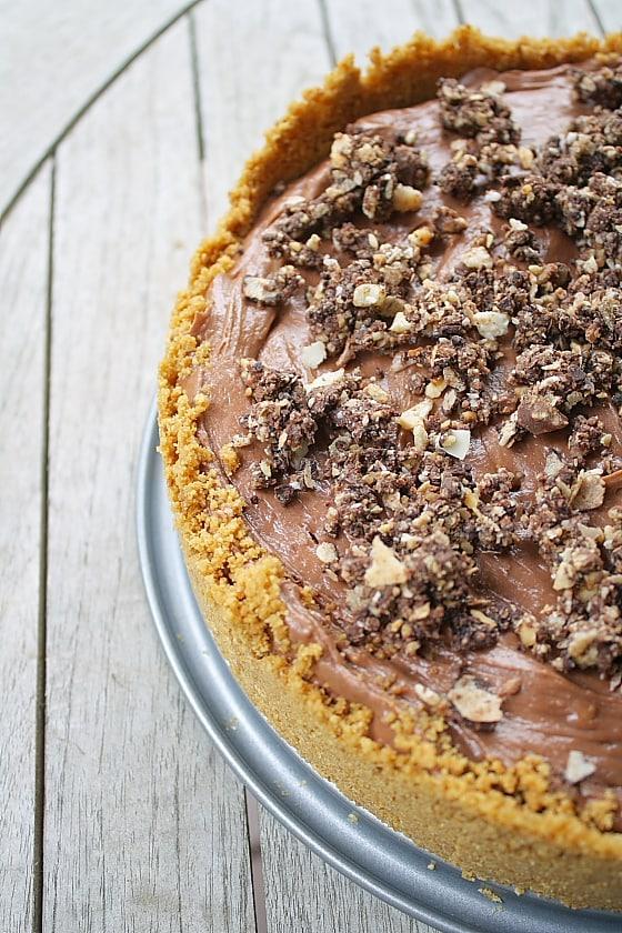 50 No Bake Treats: No Bake Nutella Cheesecake