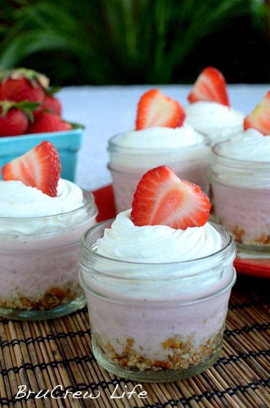 50 No Bake Treats: No Bake Strawberry Cheesecake