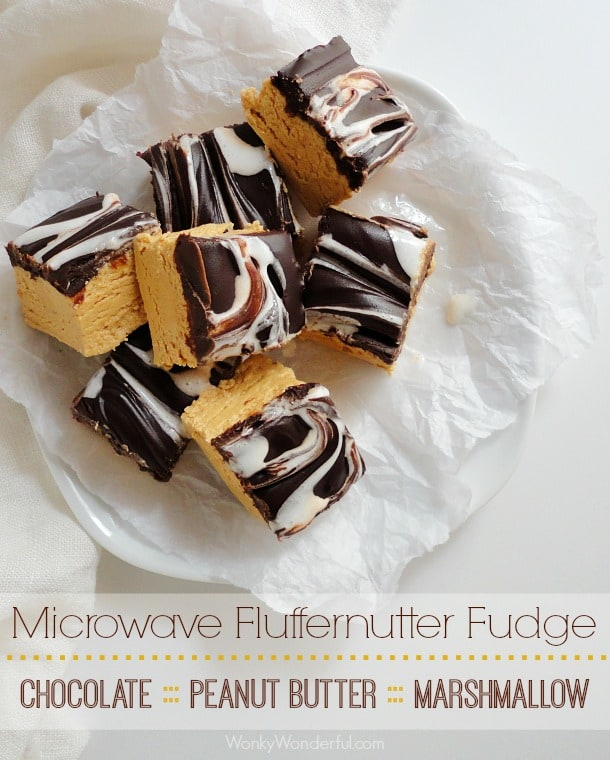 50 No Bake Treats: Peanut Butter Microwave Fudge