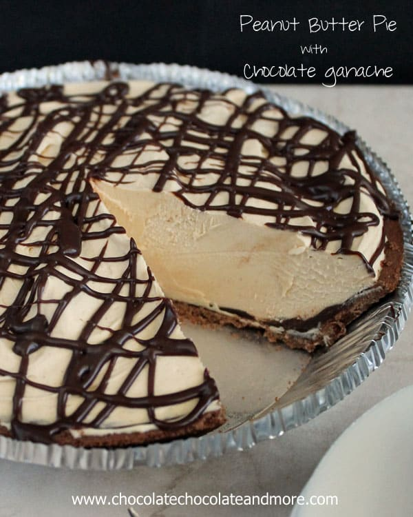 50 No Bake Treats: Peanut Butter Pie with Chocolate Ganache