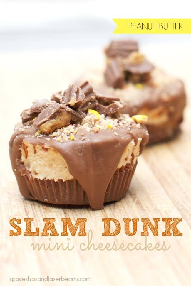 50 No Bake Treats: Reese's Slam Dunk No Bake Cheesecake