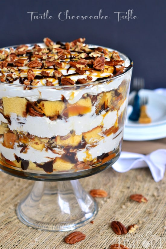 50 No Bake Treats: Turtle Cheesecake Trifle