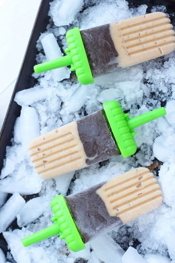 50 Popsicles: Banana Chocolate Popsicles