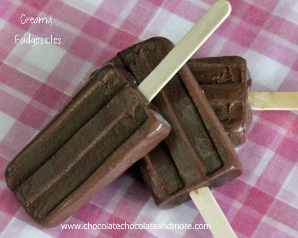 Creamy Fudgesicles-perfect for cooling off on a hot day, rich, creamy and from scratch!