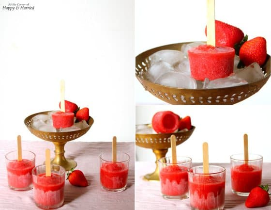 50 Popsicles: Sweet Strawberry Popsicles