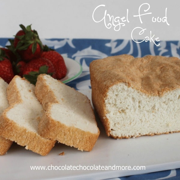 Vanilla Angel Food Cake this is the perfect recipe to use when you don't need a large tube cake
