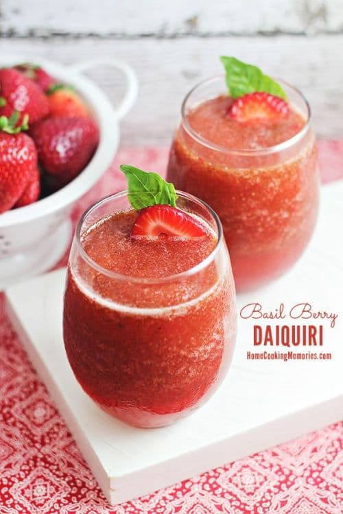 100 Frozen Drinks: Basil Berry Daiquiri