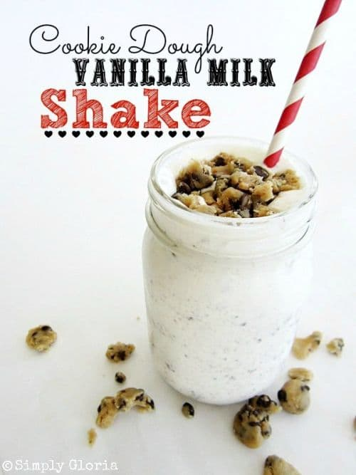100 Frozen Drinks: Cookie Dough Vanilla Milk Shake
