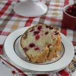 Cranberry Walnut Vanilla Pound Cake drizzled with White Chocolate-perfect for the holidays!