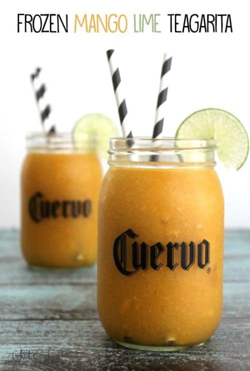 100Frozen Drinks: Frozen Mango Lime Teagarita