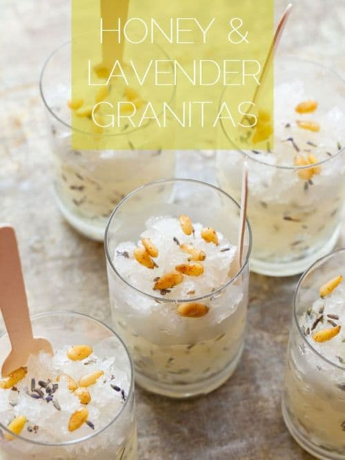 100 Frozen Drinks: Honey and Lavender Granitas