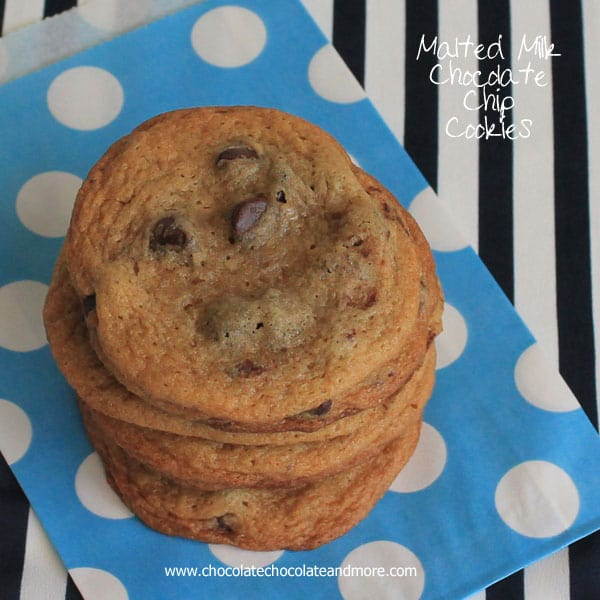 Malted Chocolate Chip Cookies - Chocolate Chocolate and More!