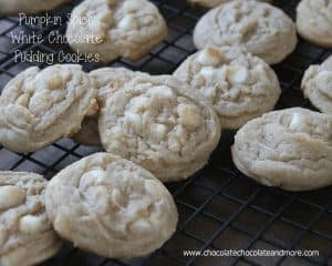 Pumpkin Spice White Chocolate Pudding Cookies