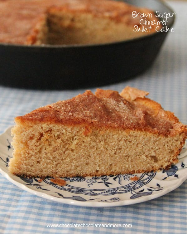 Brown Sugar Cinnamon Skillet Cake-don't let looks deceive you, this is ...