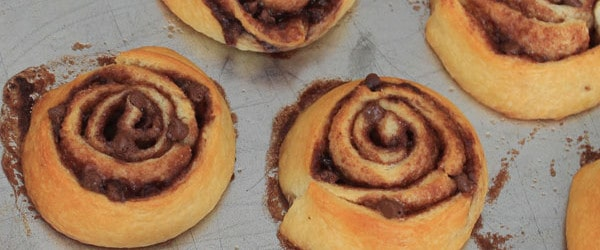 Chocolate Swirled Breakfast Rolls