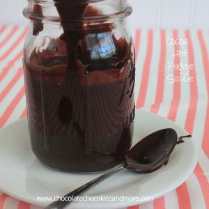 Cocoa Hot Fudge Sauce-just simple ingredients make this family favorite topping.