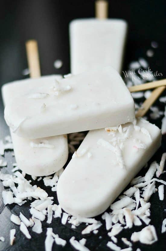 50 Very Vanilla Recipes: Coconut Vanilla Creamy Popsicles