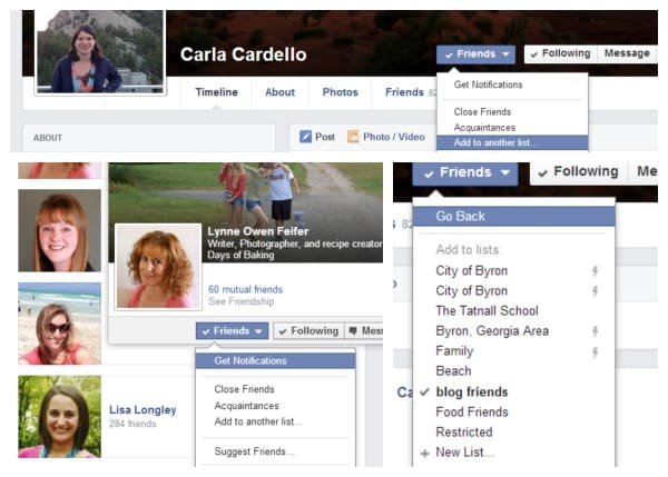 Setting up Facebook Interest Lists to see what friends are posting!