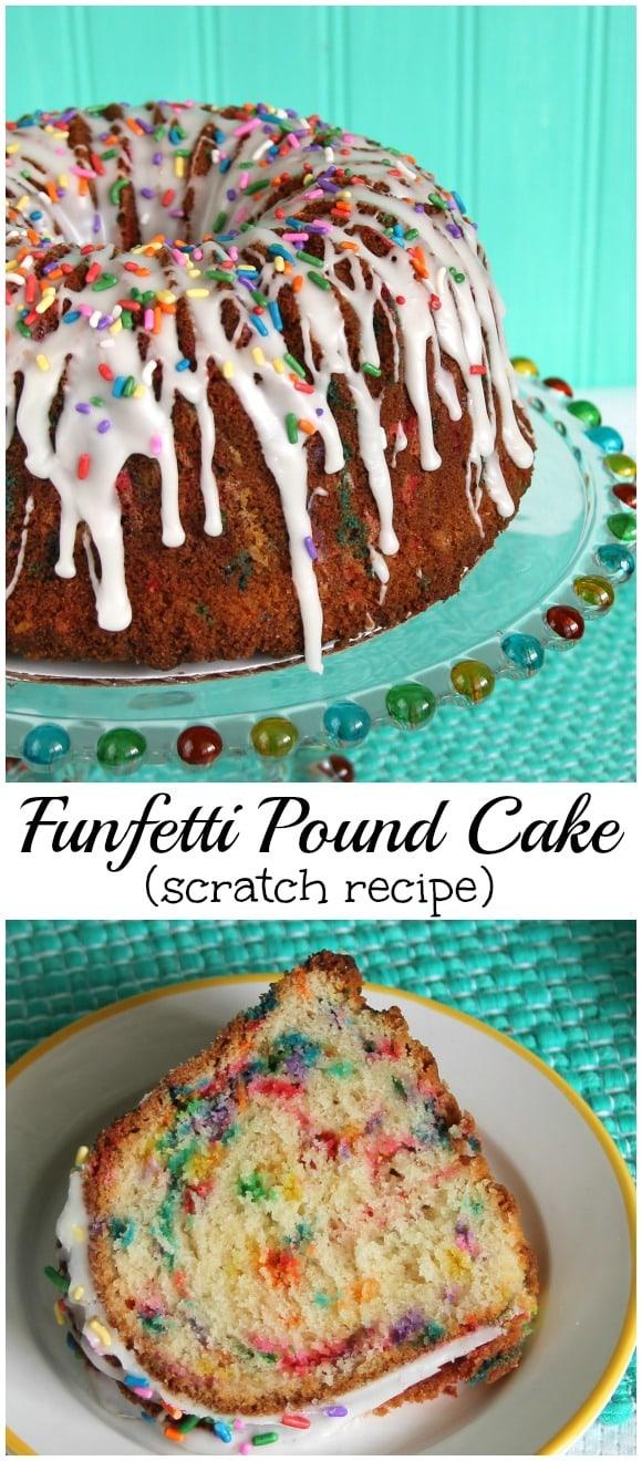 Funfetti Pound Cake scratch recipe