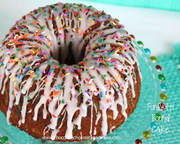 Everything is better with sprinkles especially when it's a Funfetti Pound Cake made from scratch!